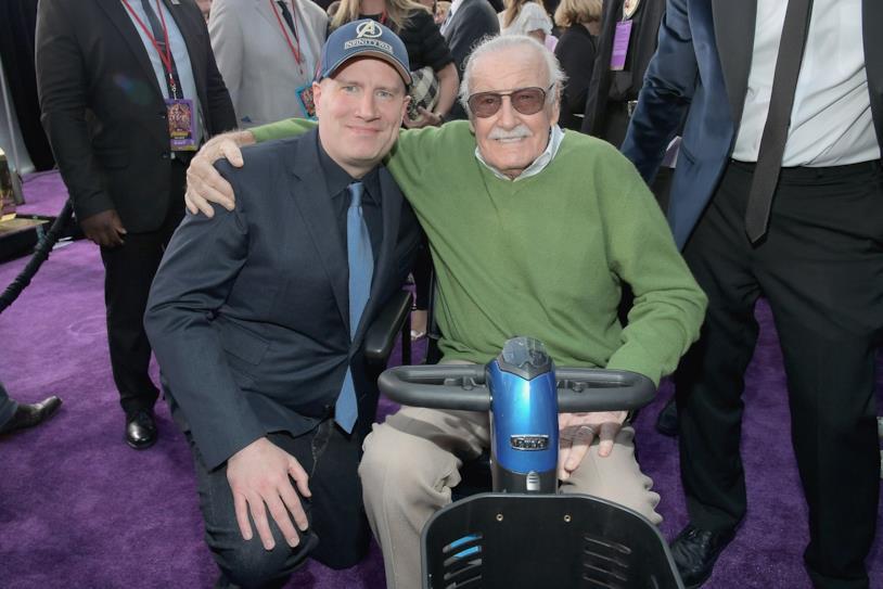 Stan Lee e Kevin Feige alla prima di Avengers: Infinity War