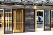 Insegna di Christie's sopra l'ingresso della famosa casa d'aste inglese