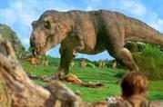 Una scena del film Jurassic Park (1993) di Steven Spielberg