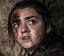 Arya in una scena del terzo episodio dell'ultima stagione