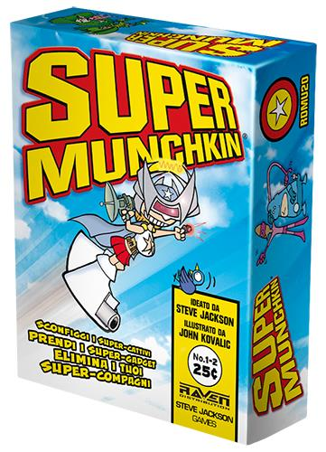 La confezione dell'edizione italiana di Super Munchkin