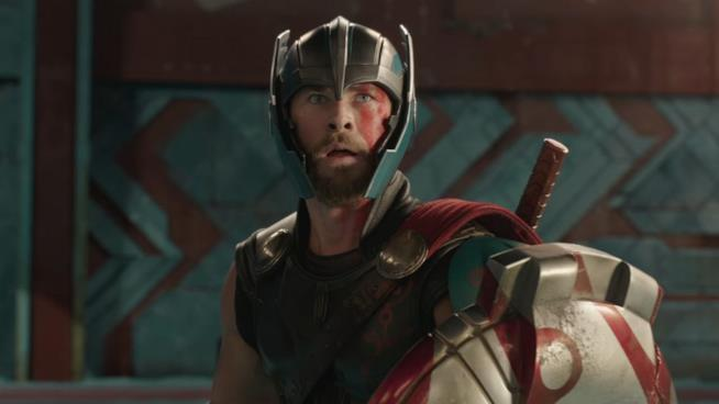 Chris Hemsworth in una scena di Thor: Ragnarok