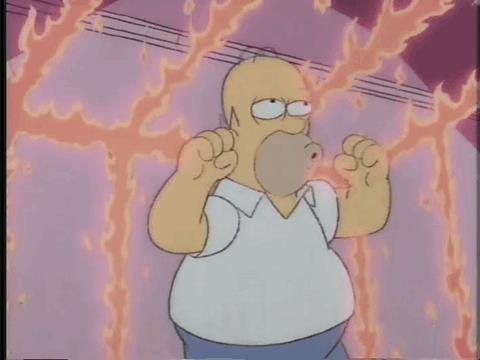 Homer intrappolato in una gabbia di fuoco