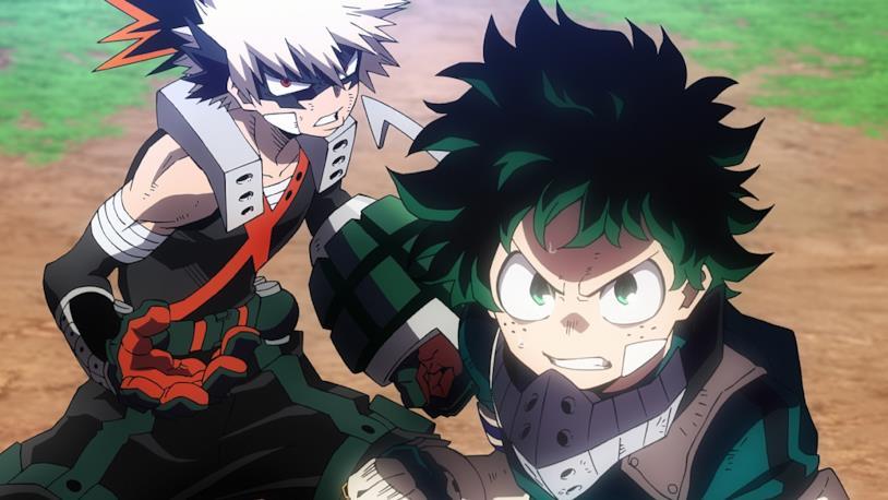 Deku e Bakugo Heroes Rising