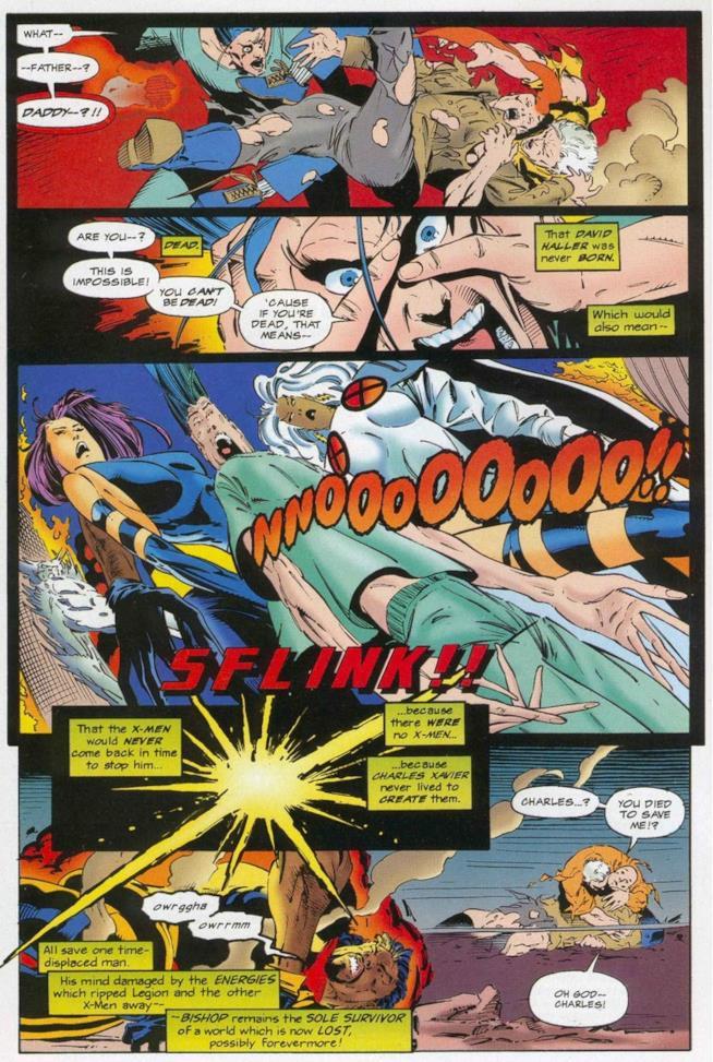 La morte di Xavier per mano di Legione