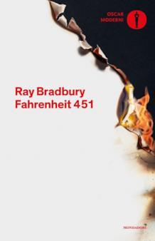 Copertina del romanzo di Ray Bradbury Fahrenheit 451