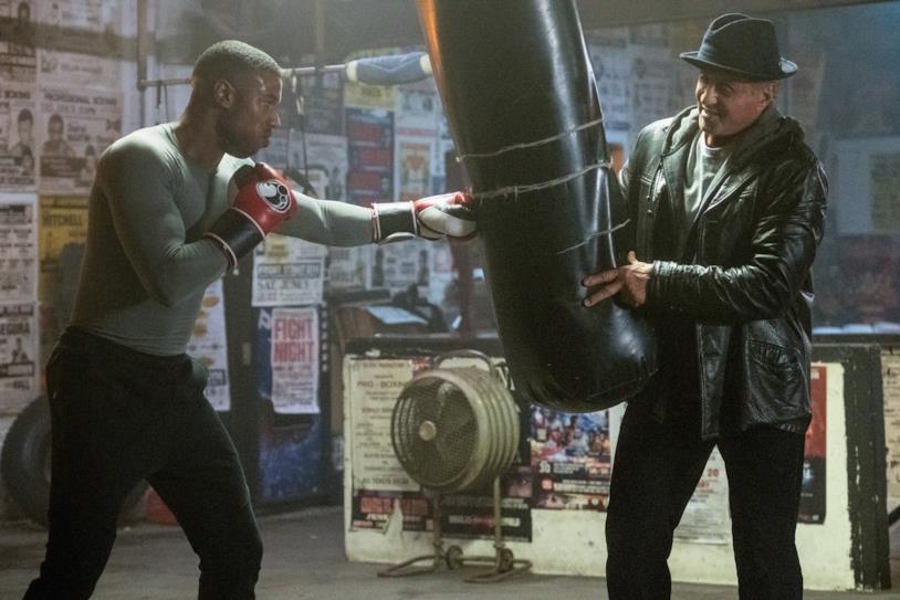Jordan e Stallone sul set di Creed 2