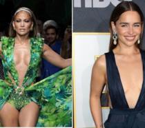 Jennifer Lopez e Emilia Clarke in un collage