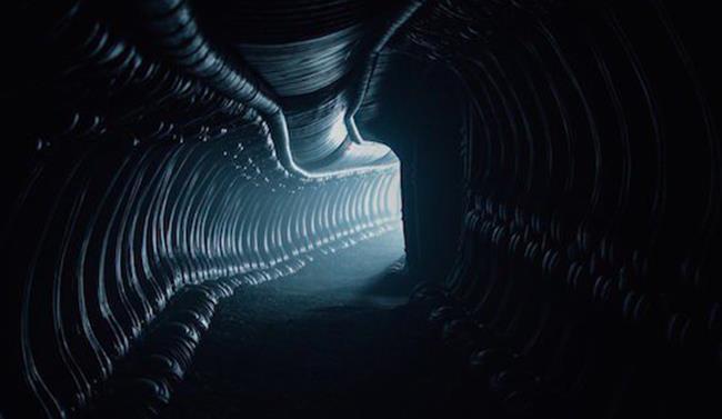 Corridoio nel set di Alien: Covenant