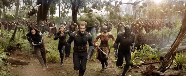 Il cast di Avengers: Infinity War nel trailer