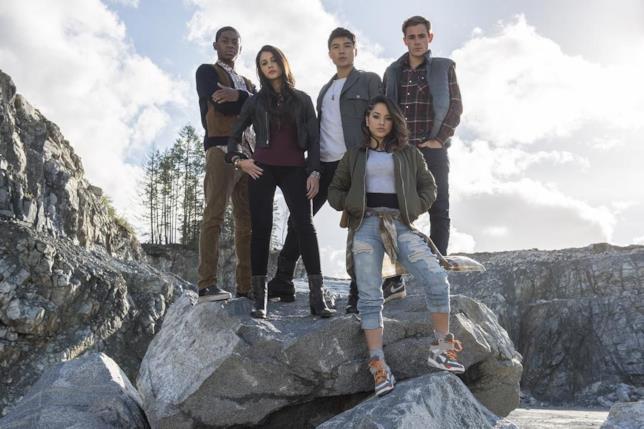 I nuovi Power Rangers: Billy, Kimberly, Zack, Trini e Jason