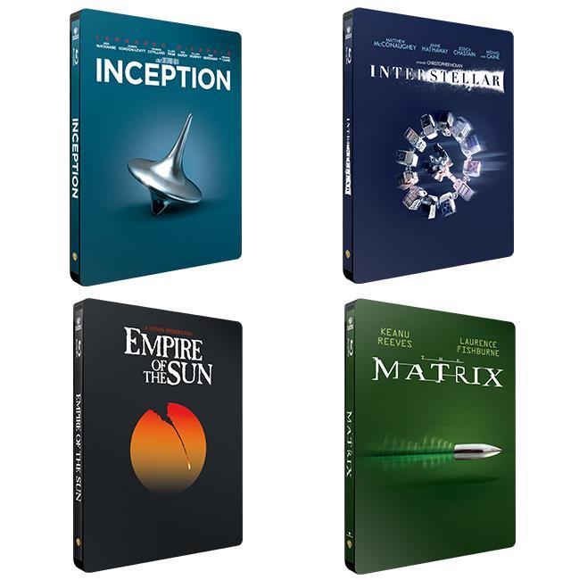 4 cover delle edizioni Iconic Moments di Warner
