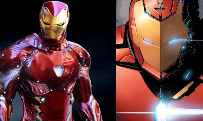 Prime Armor al cinema e nei comic a confronto