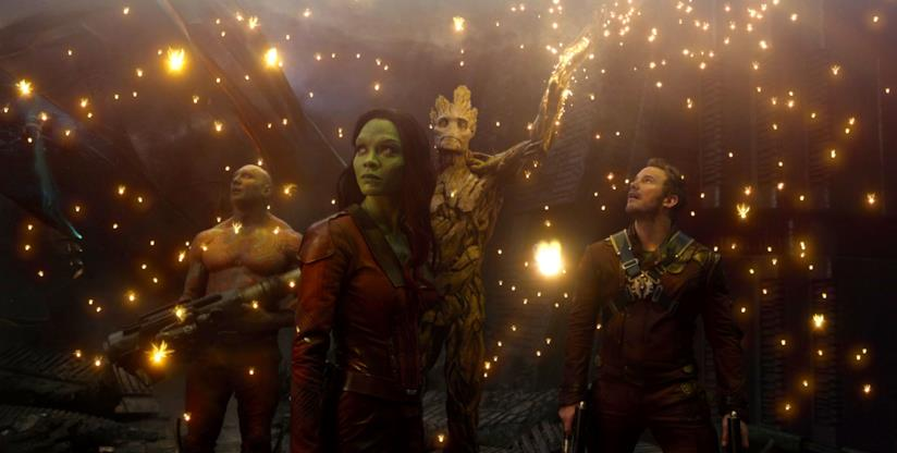 Un'immagine del film Guardiani della Galassia
