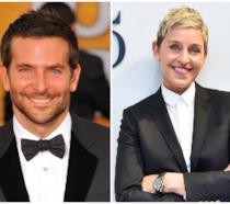 Primo piano di Bradley Cooper e Ellen DeGeneres