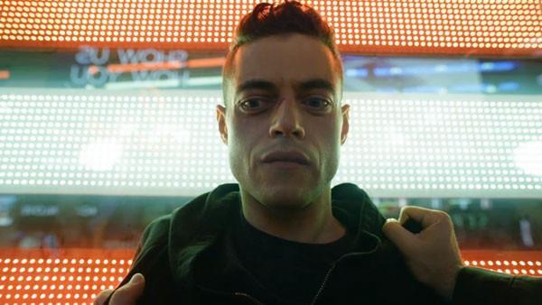 Rami Malek nei panni di Elliot Alderson in Mr Robot