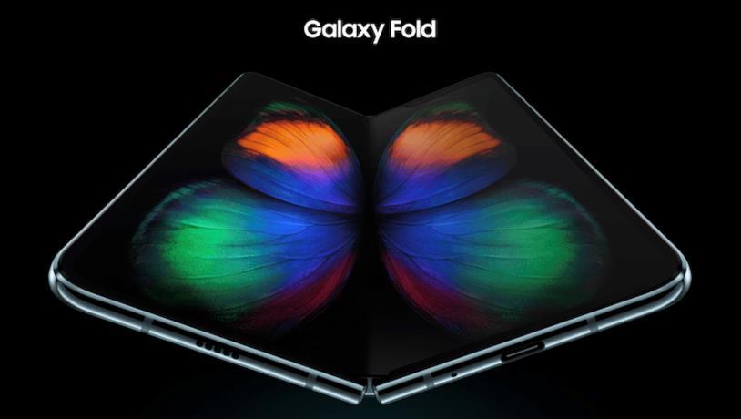 Immagine promozionale del Galaxy Fold di Samsung