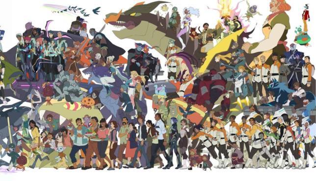 I protagonisti delle stagioni 7 e 8 di Voltron: Legendary Defender
