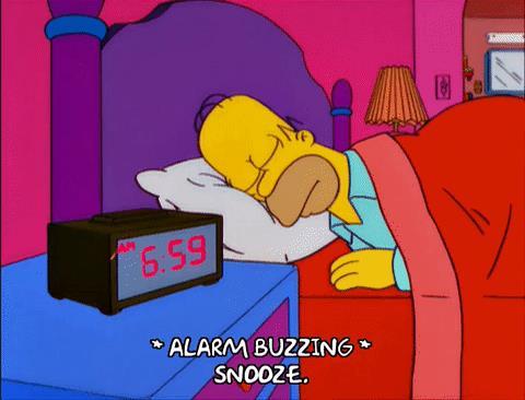 Gif di Homer Simpson mentre dorme