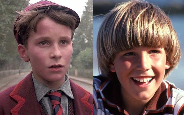 A sinistra Christian Bale in L'impero del sole e a destra Ben Affleck da bambino