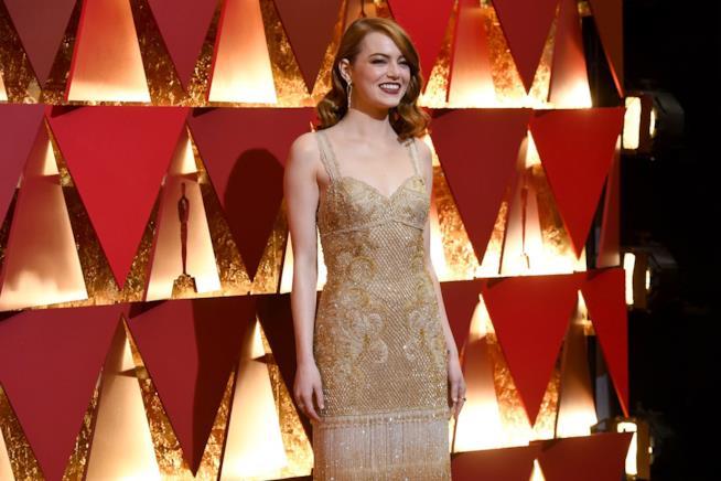 Emma Stone nel suo abito di Givenchy agli Oscar