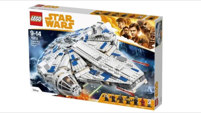 Primo piano del set di LEGO Kessel Run Millennium Falcon from Solo: A Star Wars Story