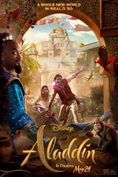 Chaos ad Agrabah nella locandina di Aladdin