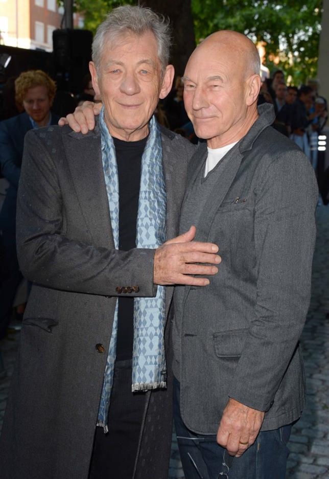 Ian McKellen con l'amico e collega Sir Patrick Stuart