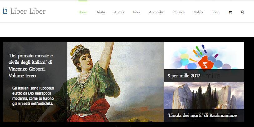 Homepage di Liber Liber