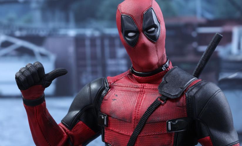 Un'ironica immagine di Ryan Reynolds nei panni di Deadpool