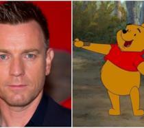 Un collage tra Ewan McGregor e Winnie the Pooh