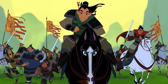 Mulan a cavallo nel film disney