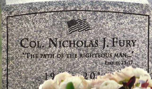 Una delle frasi simbolo di Pulp Fiction sulla tomba di Fury