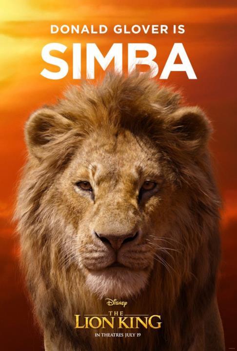 character poster di Simba adulto