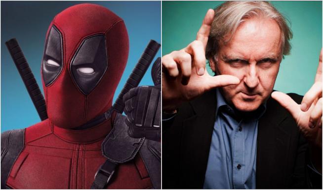 James Cameron e gli eroi Marvel in un collage