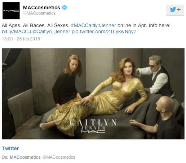 Immagine di campagna MAC Cosmetics con Caitlyn Jenner