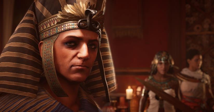 Un primo piano di Tolomeo XIII in Assassin's Creed Origins