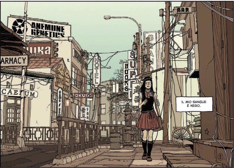 Vignetta del graphic novel HEartbeat