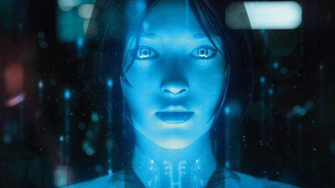 Un primo piano di Cortana, l'assistente virtuale Windows e Xbox