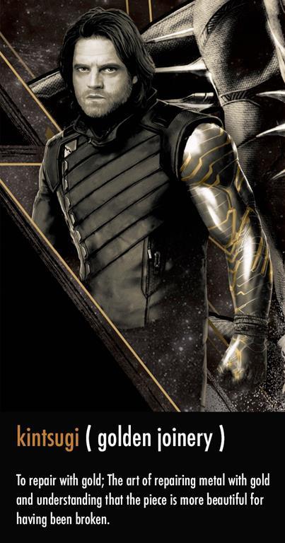 Profilo di Bucky Barnes in Infinity War, con il nuovo braccio in primo piano
