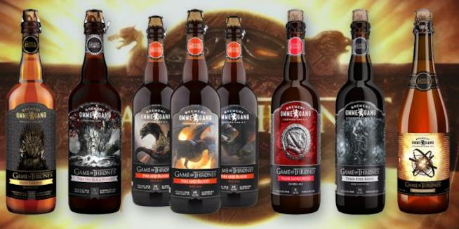Le otto differenti birre prodotte da Ommegang