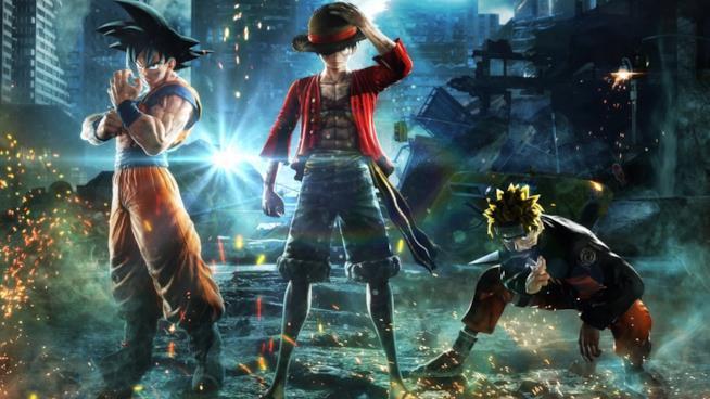 Jump Force Rufy, Naruto e Goku