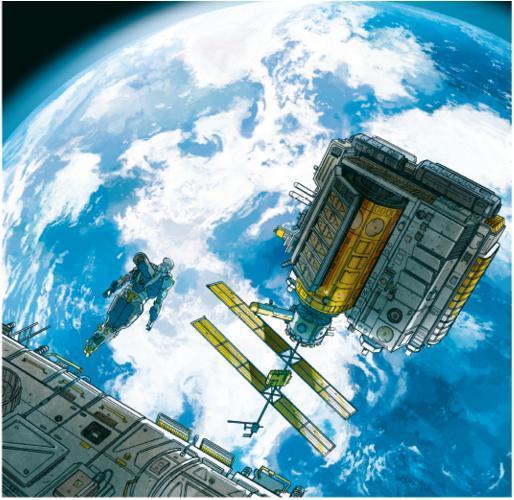 La Terra osservata dalla stazione orbitante