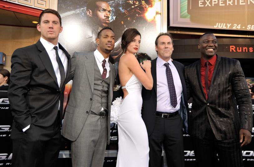Channing Tatum, Marlon Wayans, Rachel Nichols,  Stephen Sommers e Adewale Akinnuoye-Agbaje
