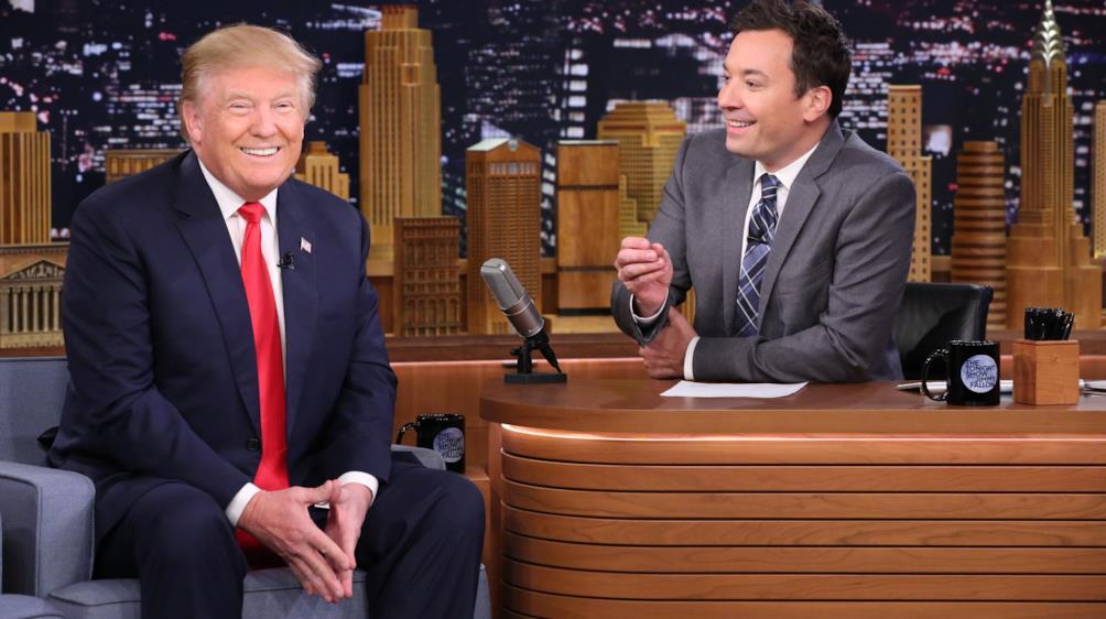 Jimmy non si è fatto sfuggire nemmeno l'uomo più chiacchierato d'America, Donald Trump.
