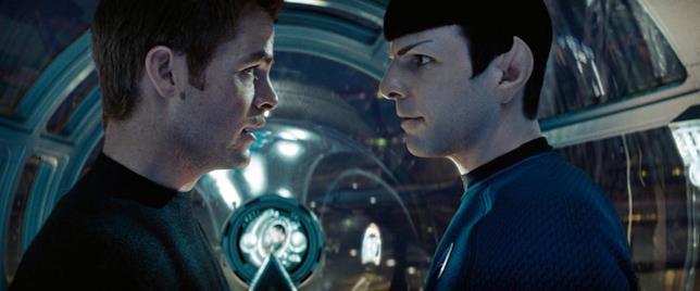 Kirk e Spock in una sequenza dello Star Trek del 2009