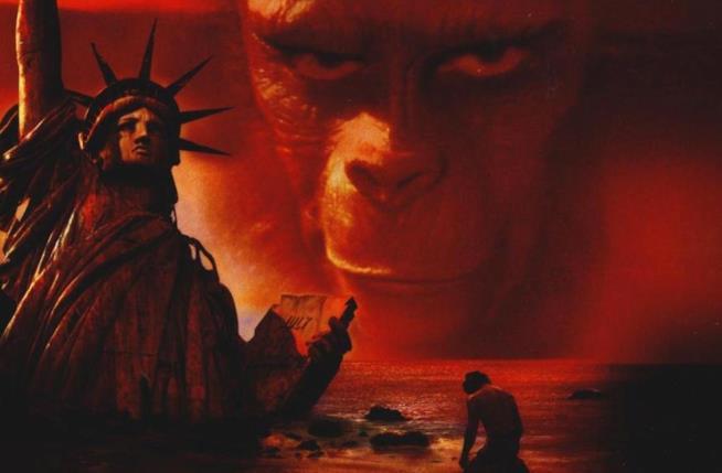 Un dettaglio della copertina di Il Pianeta delle Scimmie