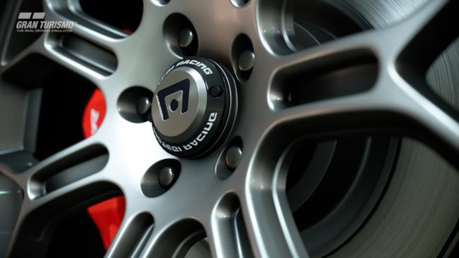 Dettaglio di un cerchione da GT Sport
