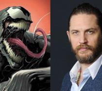 Venom e Tom Hardy insieme in una bellissima immagine promozionale