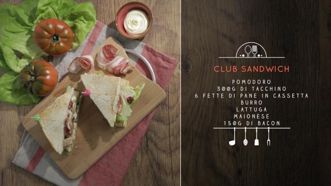 La ricetta del club sandwich